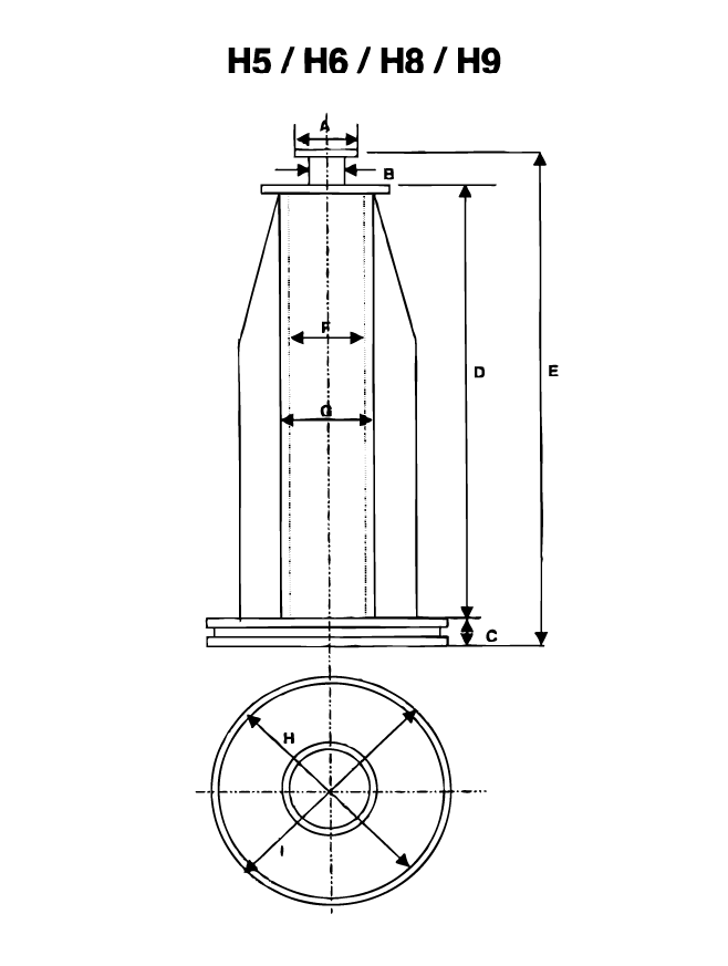 Vetrotex fiberglass bobbin dimensions drawing